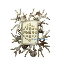 JAY STRONGWATER CORAL REEF GROTTO WHITE WASHED FRAME SWAROVSKI NEW $2600.00