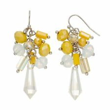 NEW! Simply VERA WANG Yellow Beaded Cluster Earrings FREE SHIPPING!