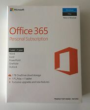 MS Office 365 Personal Subscription: 1 year 1 PC/Mac + 1 tablet FREE SHIPPING!