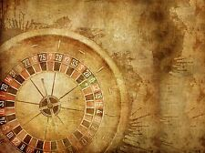 PAINTING DRAWING DESIGN CASINO ROULETTE WHEEL GRUNGE ART PRINT POSTER MP3722A