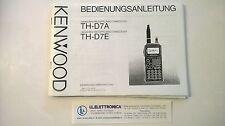 MANUALE IN TEDESCO istruzioni d'uso per KENWOOD TH-D7A