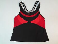 NIKE DRI-FIT VENTED LARGE GIRLS RED AND BLACK ATHLETIC  SPORTS BRA TOP K841