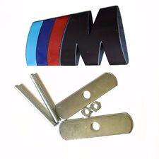 Chrome Metal M Power Car Front Grill M Badge Logo EMBLEM for M3 X5 E46,Black 0