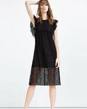 BNWT ZARA BLACK LACE DRESS Sz M UK 10-12 US 6-8