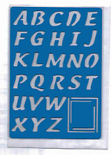 Plastic/pvc/embossing / stencil/alphabet/4 / upper/case/pp / Doble