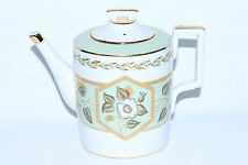 Russian Imperial Lomonosov Porcelain Teapot Nephrite Background 22K Gold Russia