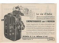 Pubblicità 1934 MOVIKON IKONTA ZEISS IKON FILM FOTO old advert werbung publicitè