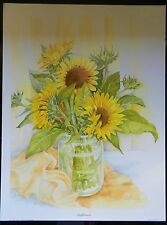 Sunflowers print by June Pennis