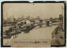 RARE Photo Erie Canal 1899 Oneida NY - Edge of the City