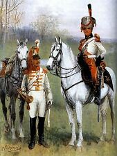 PAINTING MILITARY CHELMINSKI POLISH CUIRASSIER TRUMPETERS ART PRINT POSTER LF651