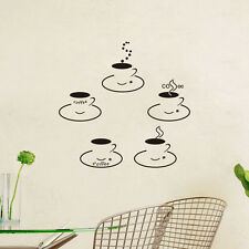 Coffee Kitchen Wall Art Sticker Vinyl Decal Decor Removable DIY House Cup