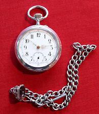 Taschenuhr Pocketwatch SPITAL BREGUET 800 silber (U377)
