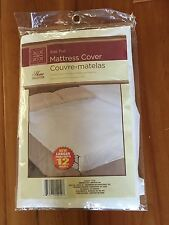 "@ Full Size Mattress Cover water proof fitted soft plastic 12"" pocket 54 x 75"