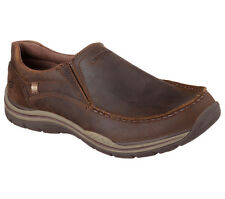 Skechers Mens Brown Relaxed Fit Expected Robino Slip On Shoes [64445] UK 7 EU 41