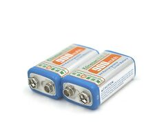 2pcs Etinesan 900mAh 9v li-ion lithium Rechargeable GPS,Microphones Battery ect.