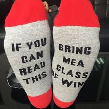 If you can read this/Bring me a glass of wine - Printed on the Sole Red QY10