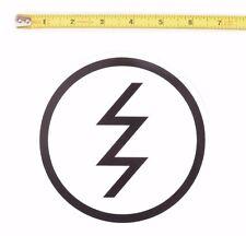 "ELECTRIC OPTICS LARGE SNOWBOARD STICKER / White / Black 6"" California"
