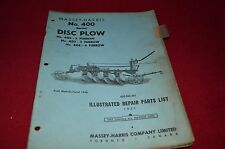 Massey Ferguson Harris 400 Disc Plow Dealer's Parts Manual RWPA