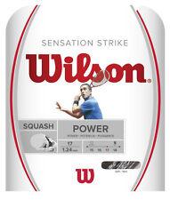 Wilson Sensation Strike 17 / 1.24mm Squash String - White / Black (10m set)