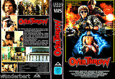 "VHS - "" OVERTHROW "" (1987) - Lewis Van Bergen - John Phillip Law"
