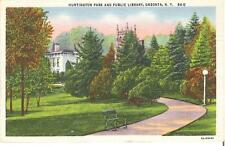 vintage 1930,s Public Library Oneonta, New York postcard