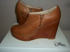 "Brand New WITTNER   ""Whitney""   Waxy Tumbled Wedge Booties  Tan  Size 10 (Aus 9)"