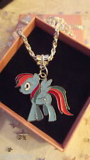 My Little Pony Rainbow Dash, Taglia 3,4,5,6,7,8,9,10 ANNI, regalo in scatola metallica