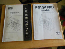 JAPANESE PENNY FALLS SPECIAL    arcade game  manual