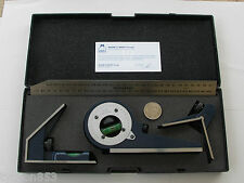 PRECISION COMBINATION SET PROTRACTOR SQUARE CENTRE MOORE & WRIGHT SHEFFIELD UK