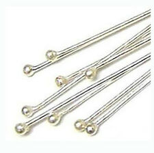 100 Sterling Silver ball Head pin Headpins wholesale solid 925 24 gauge wire F05