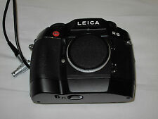 Clean , black LEICA R8 film SLR camera body w/ MOTOR WINDER + rare data back -1