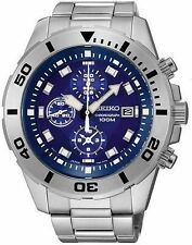 SCNP SNDD97P1 Seiko Mens Date Display Chronograph Bracelet Rotating Bezel Watch