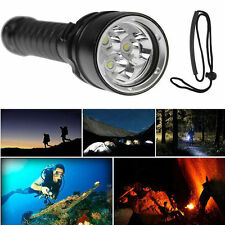 New 3x XML2 8000LM Diving LED Flashlight Torch Lamp Waterproof Ultra Bright
