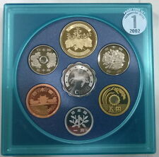 Japan 2002 Mint Proof Set of 6 Coins,With Silver Medal,Proof