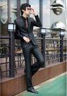 New Men's Fashion Dress Casual Business Suit One Button Slim Fit Suit Black XZ04