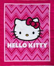 "SANRIO  HELLO KITTY  CHEVRON WALLHANGING  COTTON FABRIC QUILT COT PANEL  35""x44"""