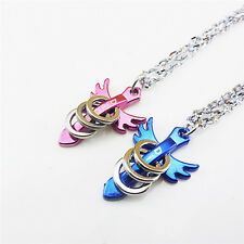 Fashion Men Women Lover Couple Necklace I Love You Heart Pendant Stainless Steel
