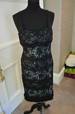 Women's La Perla lace and fur dress. Size 12
