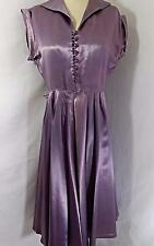 1930s Vintage PARTY DRESS~Purple/Lavender LIQUID SATIN A-LINE GOWN 38B 29W