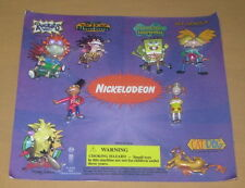 NICKELODEON  GUMBALL MACHINE DISPLAY CARD WITH FIGURES  2000  ANGRY BEAVERS  RR