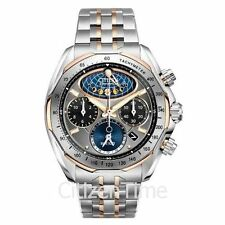 -NEW- Citizen Signature Moon Phase Flyback Chrono Watch AV3006-50H