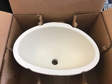 "GEMSTONE UNDER MOUNT VANITY SINK 18-1/4"" L x 13"" W x 8"" D  BONE WHITE RV CAMPER"