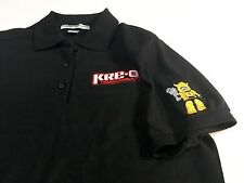 Port Authority KRE-O Transformers 3-Button Polo Shirt Black Cotton Top Womens L