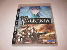 Valkyria Chronicles (Playstation PS3) Original Release Complete LN Perfect Mint!