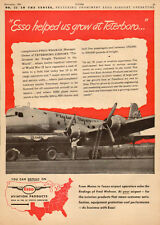 1947 vintage AD ESSO Aviation Products  Flying Tigers DC-4 at Teeterboro 032017