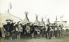 "Buffalo Bill's Wild West Show Italy 1890 Native Americans Reprint 7x4"" Photo"