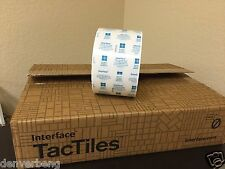Tac Tiles FlorDots GlasbacRE Interface Flor Adhesive Tactiles Roll of 500 NEW