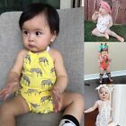 Newborn Toddler Infant Kids Baby Girls Romper Jumpsuit Bodysuit Clothes Outfits