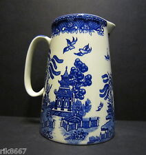 4 Pint Milk Jug Or big (vase)Willow Pattern By Heron Cross Pottery England
