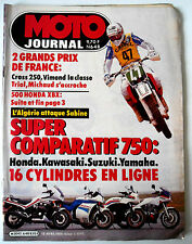 N°648 MOTO JOURNAL; Super Comparatif 750 Honda , Kawa, Suzuki, Yamaha